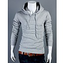Quteng Mens Hoodie Casual Solid Color Sweater