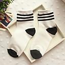 calcetines raya del caramelo del bromista de tres barras de algodón medias de Corea del Sur de la mujer zhuoshang a692 negro