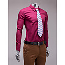 borgoña camisa de manga larga slim fit