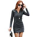 camisa de manga larga de algodón v cuello negro de las mujeres Viernes