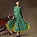 2 piezas 3/4 vestido de manga luomeidisha falso de la moda de las mujeres