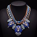 cadena mulitlayer gemas coloridas joyas jq de las mujeres collar