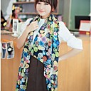 Womens Smile Face Chiffon Scarves