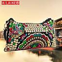 ailaike bolso bordado de la vendimia de las mujeres