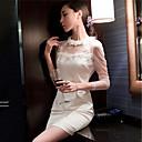 bodycon cuello redondo de color sólido falda corta de las mujeres xinyayi