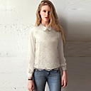 Abigail Womens Fahsion Long Sleeve Solid Color Shirt