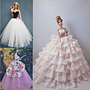 3 Pcs Barbie Doll Festival Ceremony Princess Style Elegant Dress