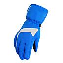 cielo azul de poliéster guantes de esquí térmica de las mujeres a prueba de viento kineed
