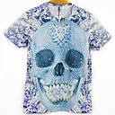 Blueberry Mens Fashion 3D Print Short Tshirt 3092