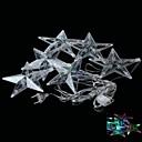 3w 100lm 6LED estrellas rgb forma decorativo cadena de luz de la lámpara (4m 220v enchufe de la UE) astilla