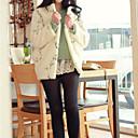 embrodiery moda abrigo de lana de cordero de la mujer lilidream