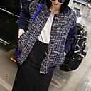 tweed de la moda de las mujeres lilidream chaqueta corta