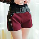 Jimei Womens Fashion Slim Tweed Short Pant