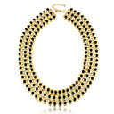 Yumfeel Womens Modern Stacked Metal Necklace: