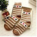 caliente la franja enrejado de diamante masculinos calcetines de lana de conejo A002 de zhuoshang mujeres aman color al azar