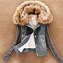 elegante abrigo de cuello de piel de MASA mujeres