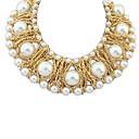blanco temperamento aristocrático elegante collar de perlas de las mujeres Senlan