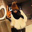 abrigo de piel de imitación vera 6123 blanco, negro