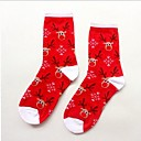 ZHUOSHANG Womens Santa Claus Milu Deer Cotton Snow Snowman Christmas Stockings A701 Milu Deer