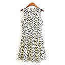 Anne Womens Round Collar All Match Floral Print Dress