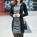 lilijia vestido grueso de manga larga de las mujeres