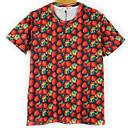 Blueberry Mens Fashion 3D Print Short Tshirt 3106