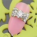 10PCS SH400 Bowtie Design Rhinestone 3D Alloy nail art DIY Nail beauty Nail Decoration Nail Salon Nail