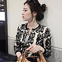 Loria bodycon cuello redondo suéter estampado floral de las mujeres