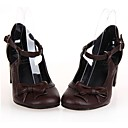 6.5cm de la PU de cuero zapatos de tacón lolita gótico con fila