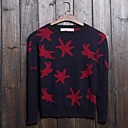 Mens  Contrast Color  Print  Casual  Knitwears