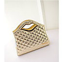acolchado bolso de las mujeres eden forma del labio decorado