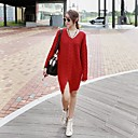 Womens Loose Hedging Long Sweater
