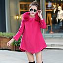 abrigo de ajuste de tamaño grande sencilla lana suelta fc3056a-9558 de Eleanor mujeres