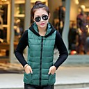 Womens Hooded Sleeveless Zipper Down Coats Vest (More Colors)