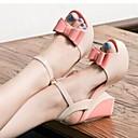 causual moda cómoda arco plataforma de tacón de cuña sandalias peep-toe de las mujeres winble