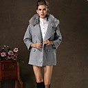 KissTiesWomens Vintage Double Breasted Cashmere Winter Coat