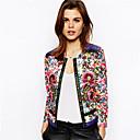 YDW Women's Fashion Flower Pattern Jacket Coat SV009370 Screen Color