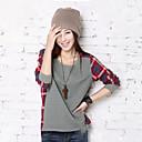 una camisa Belard cheque cuello redondo de manga larga nueva causal de moda coreano suelta tocando fondo