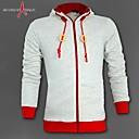 chaqueta de cremallera con capucha de los hombres del deporte de moda casual de color de contraste manguito capucha walkmen Manwan,