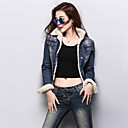 Womens Fashion Winter All Match Jean Short Jacket