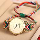 Tomono cuerda hecha a mano las mujeres de moda del reloj ocasional (colores surtidos)