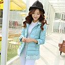 Womens Winter Korean Slim Solid Color Hoodie Padded  (More Colors)