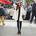 ajuste flojo de las mujeres Weishang tweed solapa causual abrigo