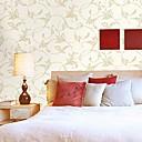 papel no tejido de la pared Revestimiento de paredes de papel de la pared, flores de vid estilo europeo de alta formación de espuma