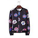 Halei Mens Fitted Floral Print Fashion Cardigan