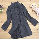 YDW Womens Fashion Woolen Long Slim Coat 3489 Gray