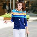 Womens Bright Silk Round Neck Sweaters