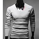 uamp;camisa de manga larga v cuello de la manera del color del contraste ocasional de los hombres f