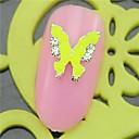 10PCS SH448 Candy Lemon Yellow Butterfly Design Rhinestone 3D Alloy nail art DIY Nail beauty Nail Decoration Nail Salon