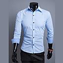 camisa de manga larga del color del contraste de la moda Luoyi